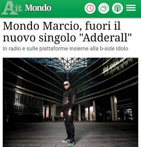ANSA per MONDO MARCIO – Adderall è il nuovo singolo
