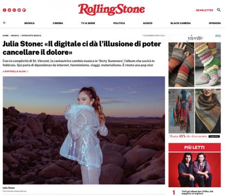 Il ritorno solista di Julia Stone con l'album Sixty Summers prodotto da St.Vincent. L'intervista esclusiva su Rolling Stone Italia