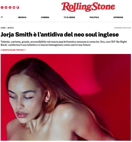 """JORJA SMITH su Rolling Stone Italia: """"nel nuovo pop britannico nessuno è come lei"""""""