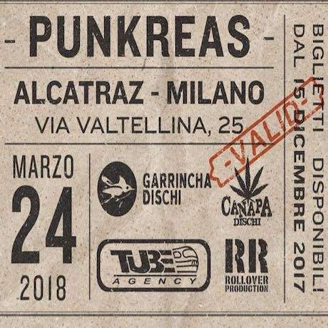 Punkreas all'Alcatraz il 24 marzo