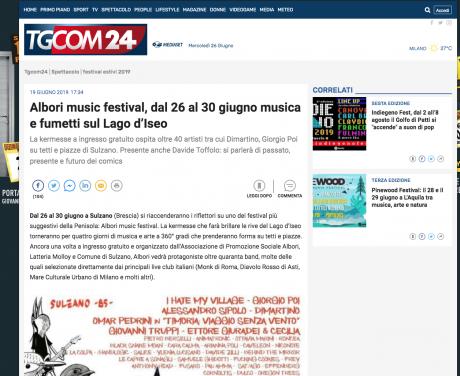 Albori festival su Tgcom24