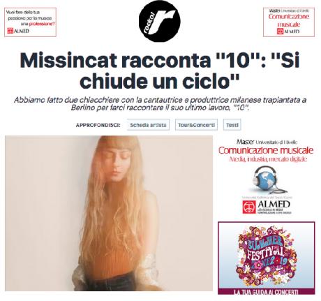 """ROCKOL ha intervistato MISSINCAT in occasione dell'uscita del nuovo album """"10″."""
