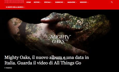 Tornano i MIGHTY OAKS, l'inedito si chiama All Things Go