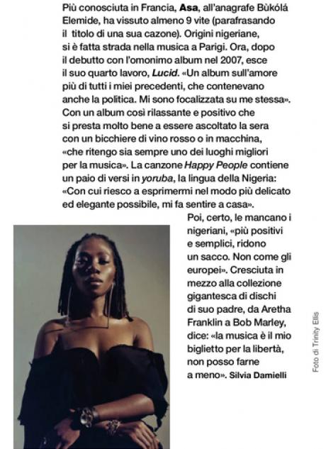 ASA intervistata da D di Repubblica in occasione del nuovo album LUCID