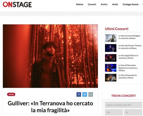ONSTAGE intervista Giò Sada in occasione del nuovo progetto Gulliver