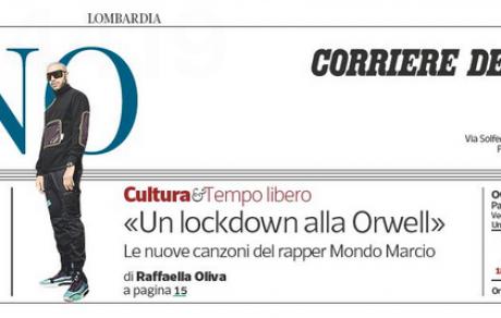 MONDO MARCIO intervistato da Corriere della Sera. Domani esce ADDERALL