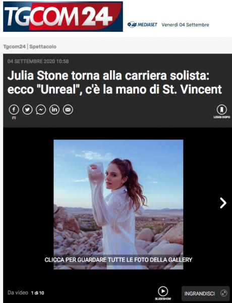 La gallery fotografica della talentuosa JULIA STONE su TGCOM24