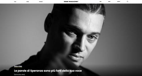 """SPERANZA intervistato da ESSE MAG. """"L'ultimo a morire"""" è il suo debut album uscito lo scorso 18 ottobre per SUGAR MUSIC"""