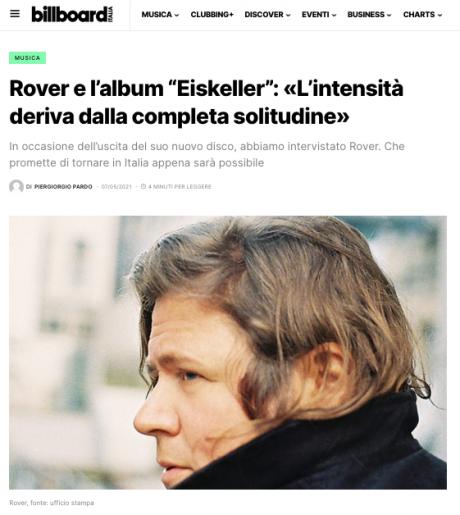 ROVER intervistato da BILLBOARD ITALIA