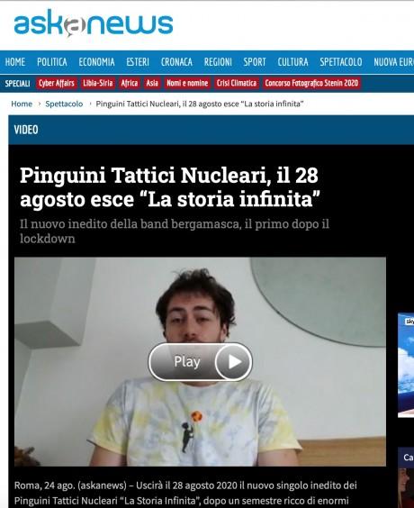 ASKA annuncia il nuovo singolo dei Pinguini Tattici Nucleari