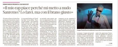 MONDO MARCIO intervistato da Il Secolo XIX, ediz. nazionale