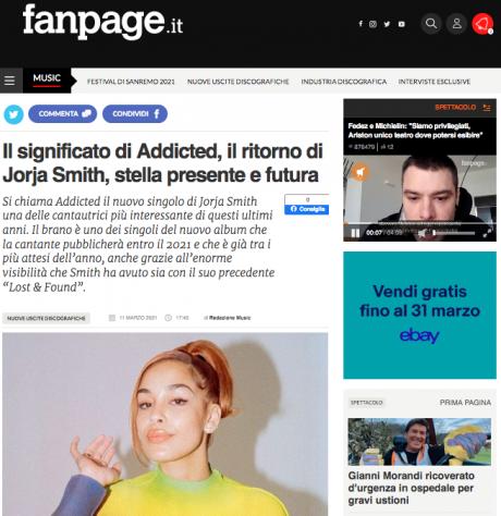 """JORJA SMITH è tornata con il singolo """"Addicted"""", l'articolo di Fanpage"""
