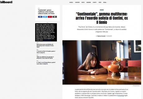 BILLBOARD ITALIA ha intervistato Alessandra Contini