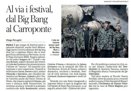 Big Bang Music Fest di Nerviano (MI), 5 giorni di musica a INGRESSO GRATUITO
