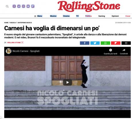 Carnesi, il nuovo video è SPOGLIATI in anteprima su Rollingstone