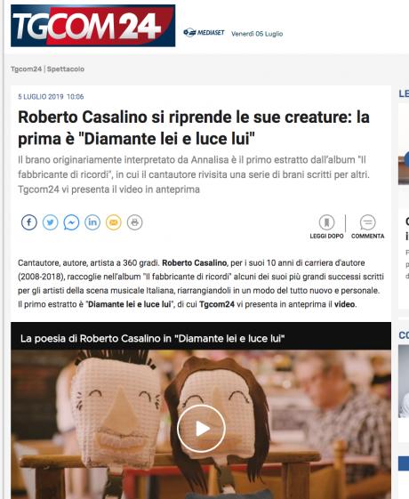 Roberto Casalino: il primo nuovo video per TGCOM24
