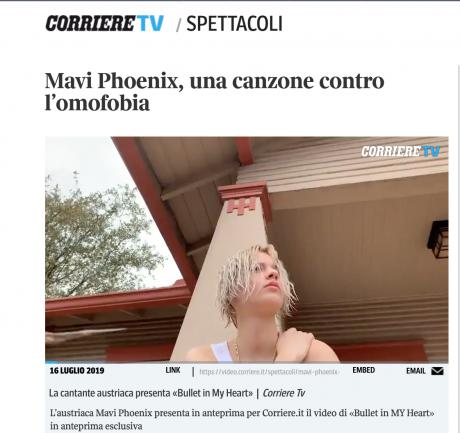 Mavi Phoenix_ il nuovo video in anteprima per Corriere.it
