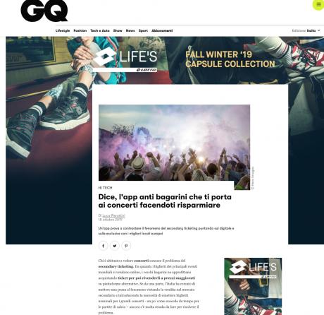 DICE su GQ: l'esclusiva con Primavera Sound