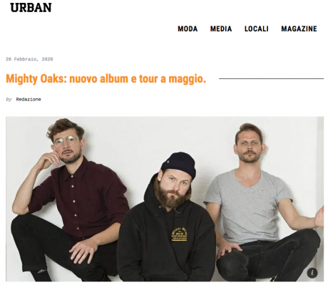 I MIGHTY OAKS intervistati da URBAN MAGAZINE