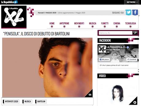 BARTOLINI intervistato da LA REPUBBLICA XL